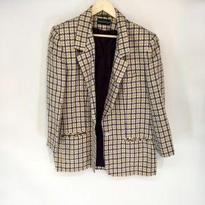 Vintage Tartan Plaid Check 90's Blazer